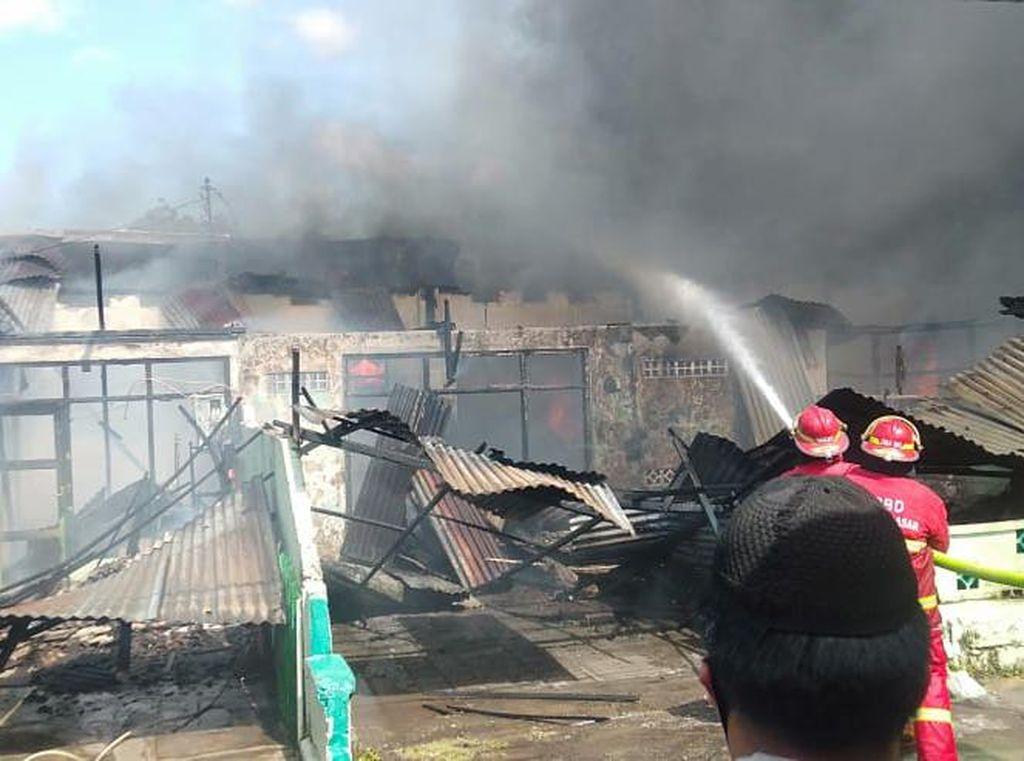 5 Rumah Dinas Kodam Udayana Terbakar, Tidak Ada Korban Jiwa