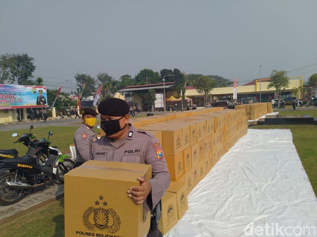 904 Keluarga Terdampak Corona di Mojokerto Dapat Bantuan Sembako