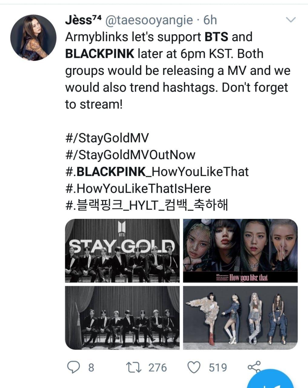 BTS dan BLACKPINK
