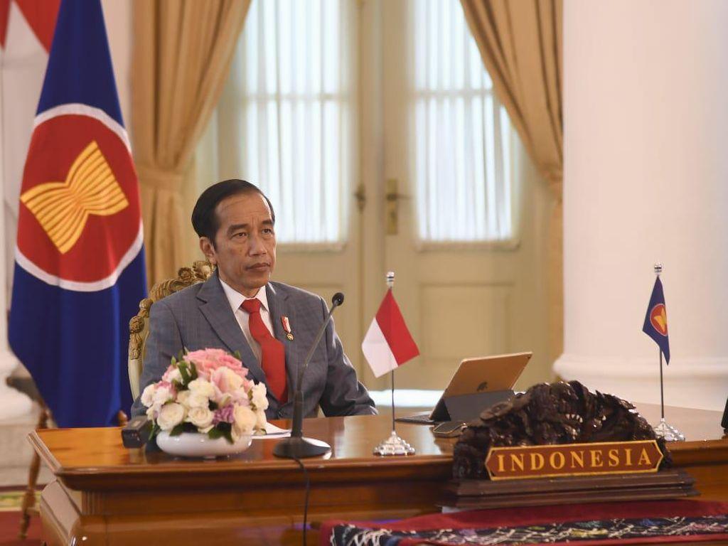 Jokowi Hadiri KTT ASEAN Secara Virtual, Bicara Tantangan Hadapi COVID-19