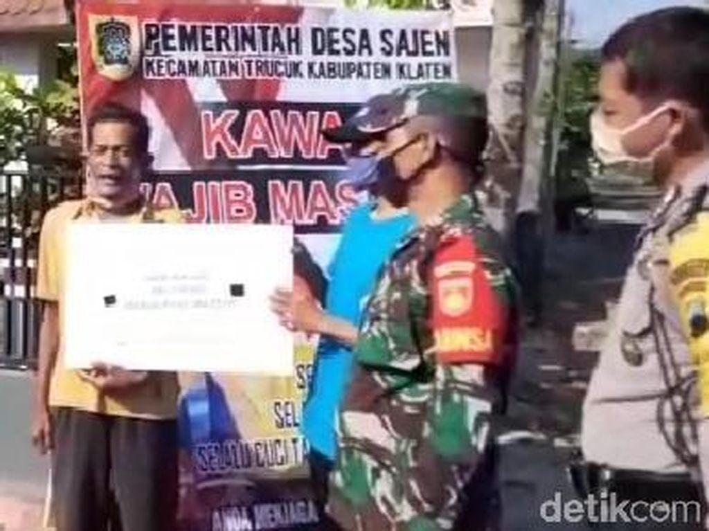 Kena Razia Tak Pakai Masker, Warga di Klaten Wajib Lantunkan Pancasila