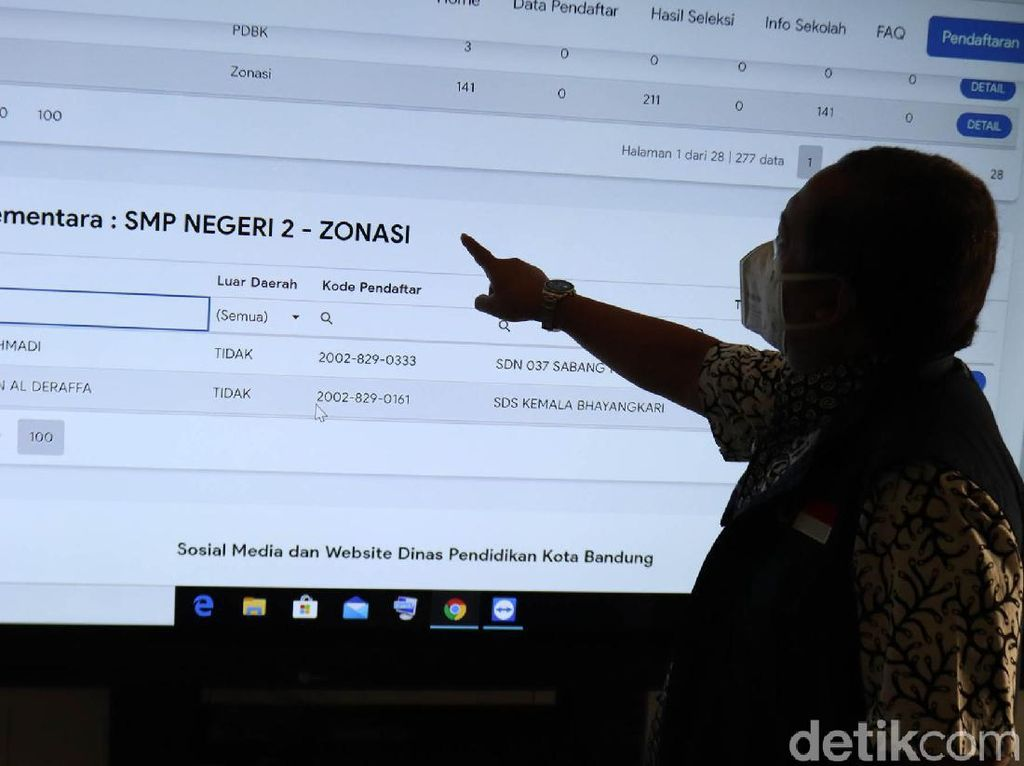 Wawali Bandung Tinjau Pelaksanaan PPDB Hari Terakhir