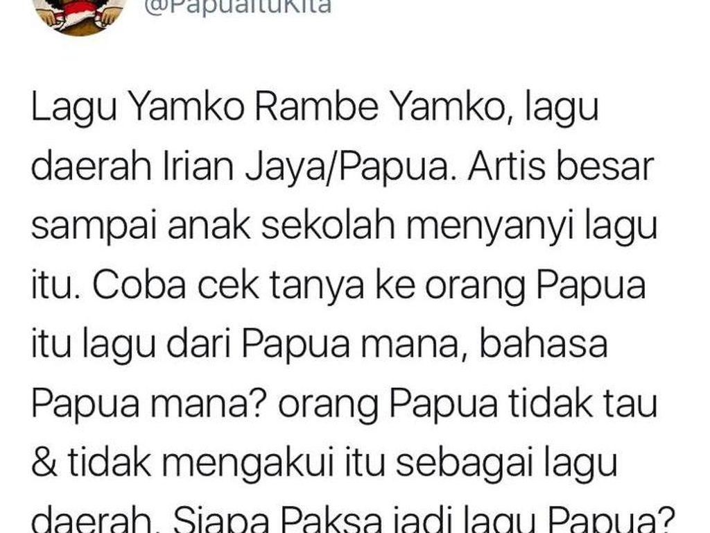 Lagi Viral! Yamko Rambe Yamko Bukan Lagu dari Papua?