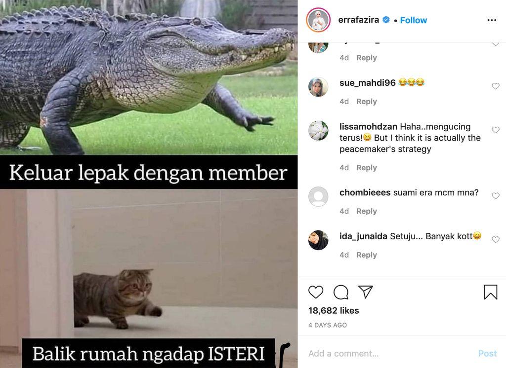 Unggahan Instagram Erra Fazira