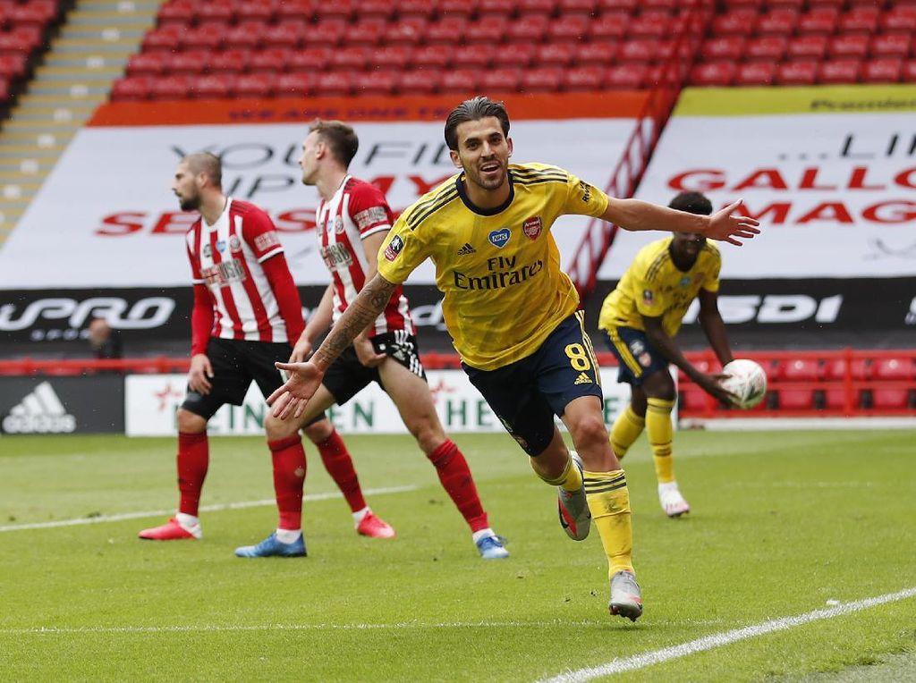 Dramatis! Gol Menit Akhir Ceballos Bawa Arsenal ke Semifinal Piala FA