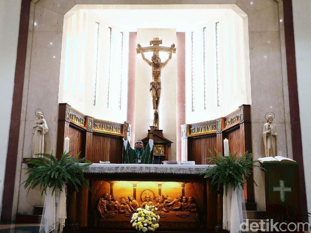 Masa Pandemi, Gereja St Yoseph Belum Dibuka untuk Ibadah Misa
