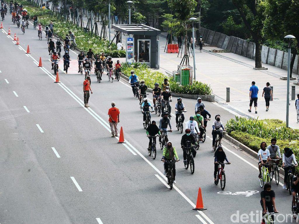 Pemprov DKI Siapkan Jalur Sepeda Permanen di Sudirman-Thamrin
