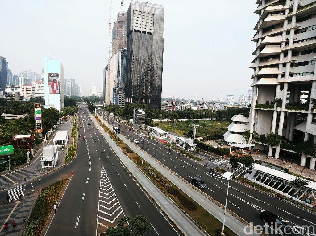Kasus Covid-19 di DKI Jakarta Meroket, CFD Sepi Warga Berolahraga