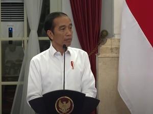 Jokowi Peringati HUT Bhayangkara ke-74 Via Virtual
