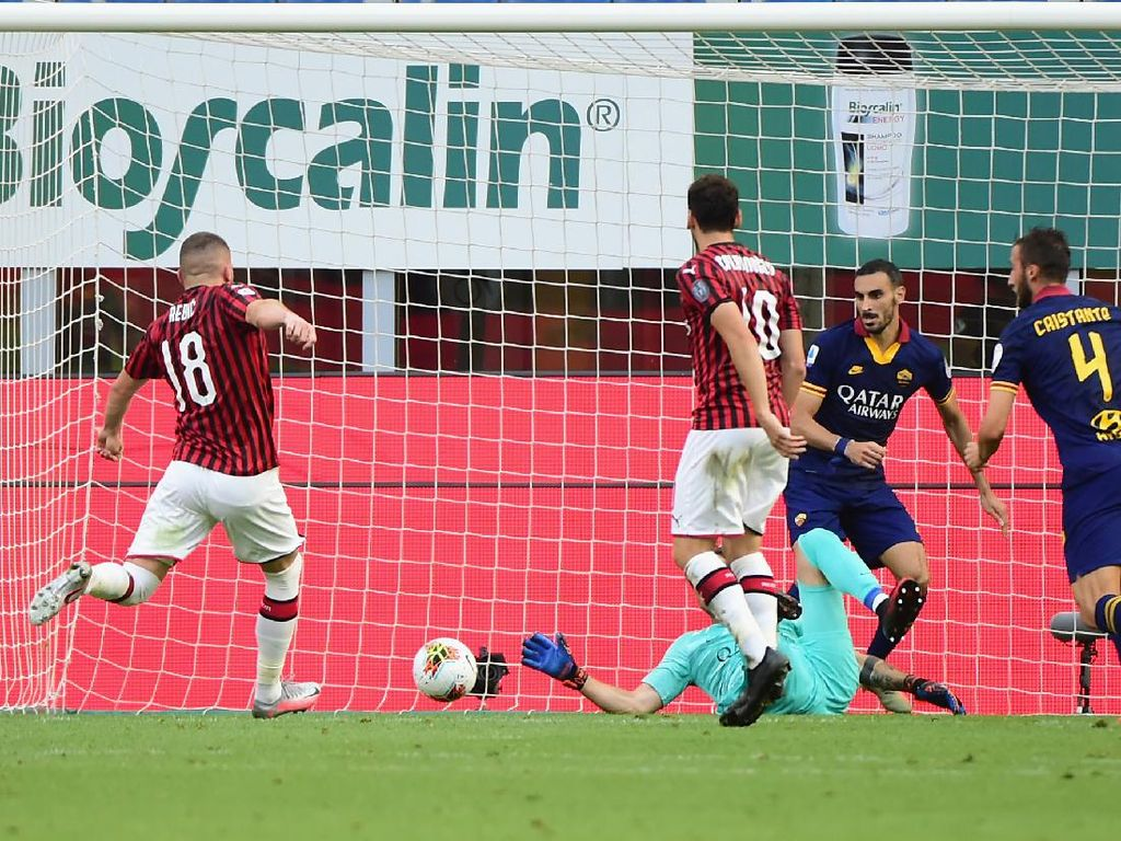 Milan Vs Roma: Rossoneri Menang 2-0