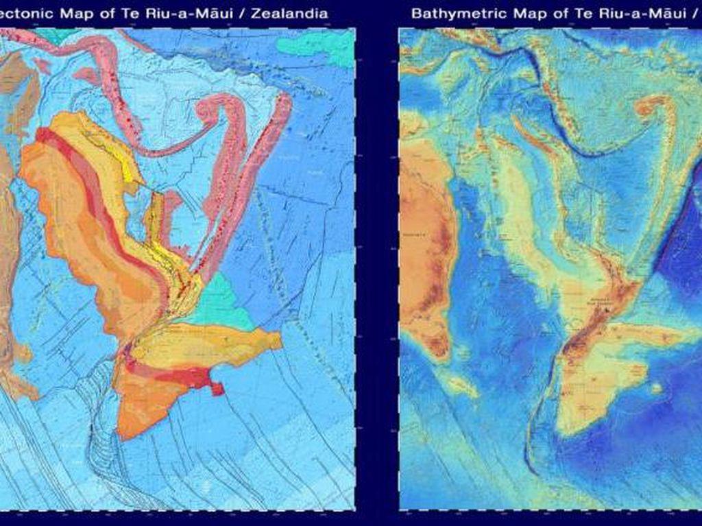 Ini Peta Benua Ke-8 yang Tenggelam di Bawah Selandia Baru