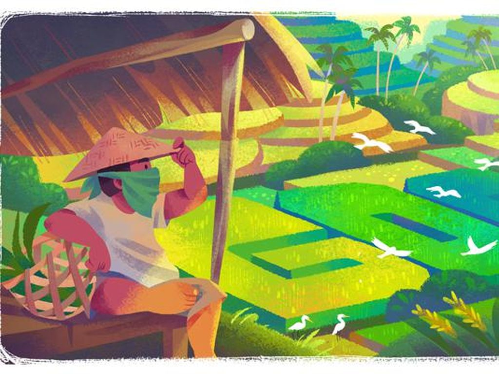 Google Doodle Peringati Subak Hari Ini, Apa Itu?