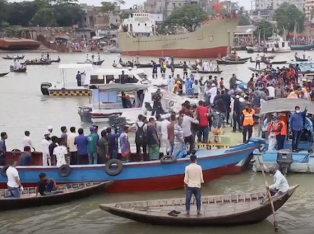 Kapal Feri di Sungai Bangladesh Tabrakan, 28 Orang Tewas