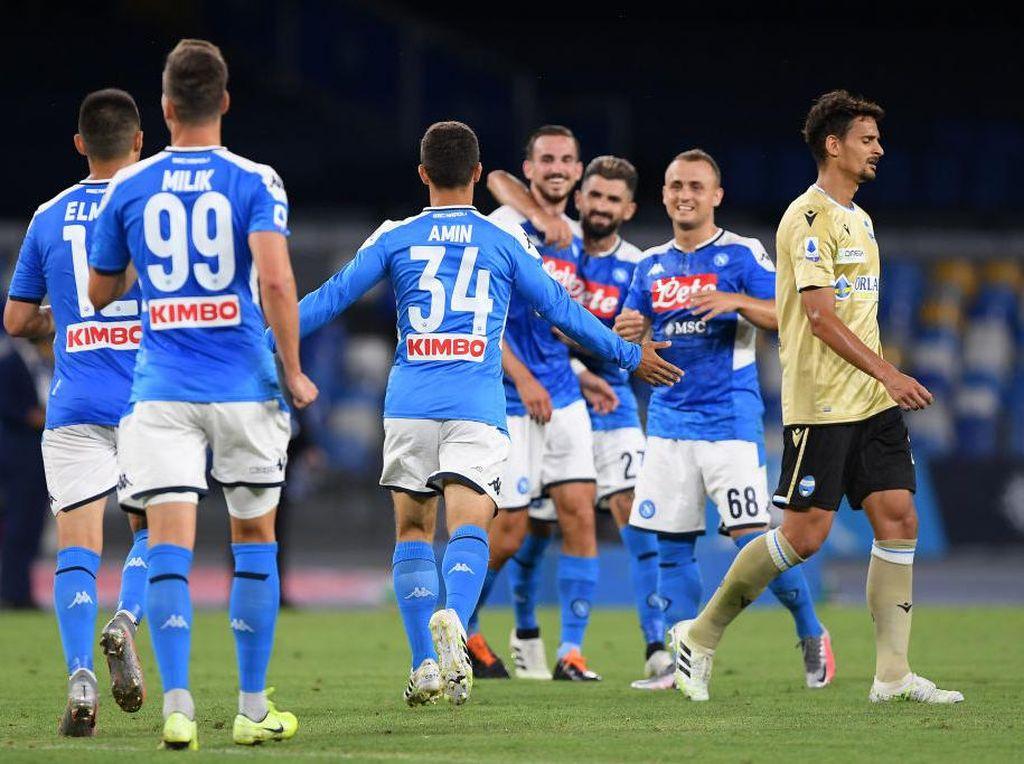 Hasil Liga Italia: Napoli Kalahkan SPAL, Atalanta Bungkam Udinese