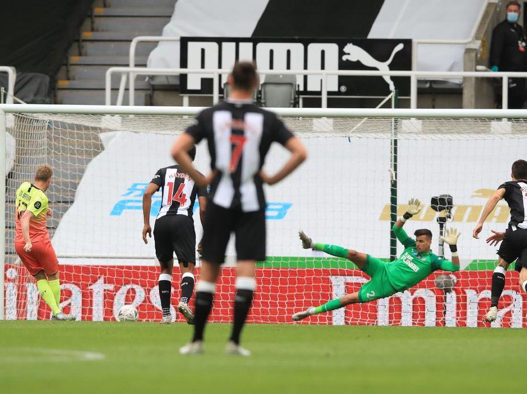 Singkirkan Newcastle, Manchester City Maju ke Semifinal Piala FA