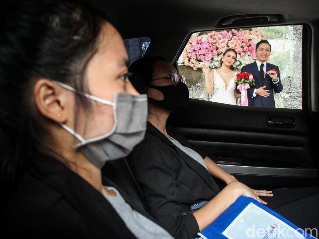 Seperti Ini Lho Simulasi Wedding Drive-Thru di Tangerang
