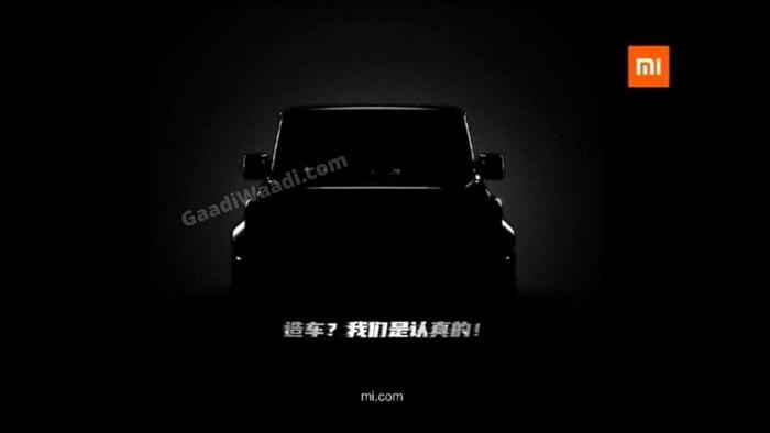 Teaser kendaraan beroda empat Xiaomi