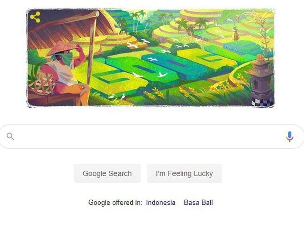 Warisan Budaya Subak Asal Bali Jadi Google Doodle Hari Ini