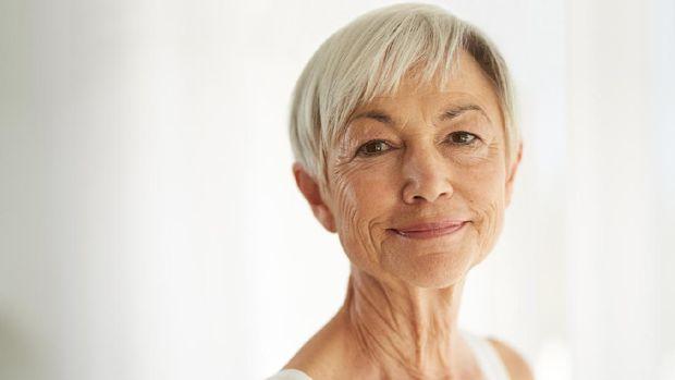 Illustration of a wrinkled face.