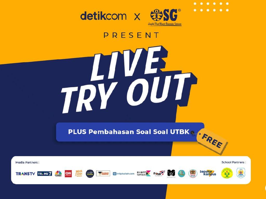 Live Try Out Online detikcom Sudah Dimulai, Ini Tahapan Tiap Sesinya