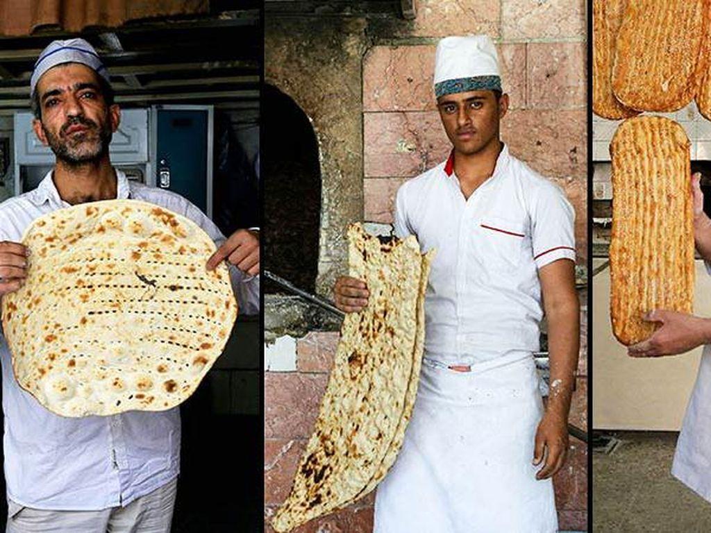 Kisah Para Pria Pembuat Roti Berkat, Roti Pipih Khas Iran