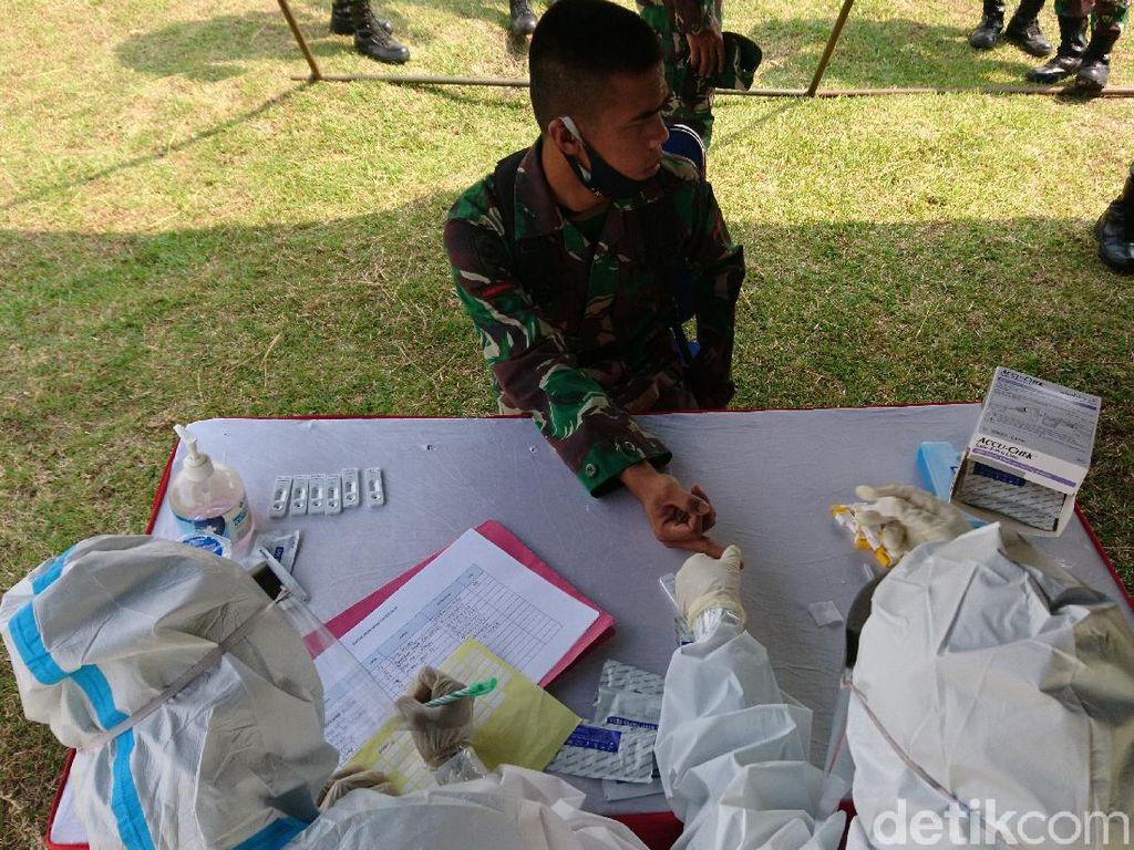 Program Tentara Masuk Desa di Cilegon Dimulai, Prajurit TNI Jalani Rapid Test