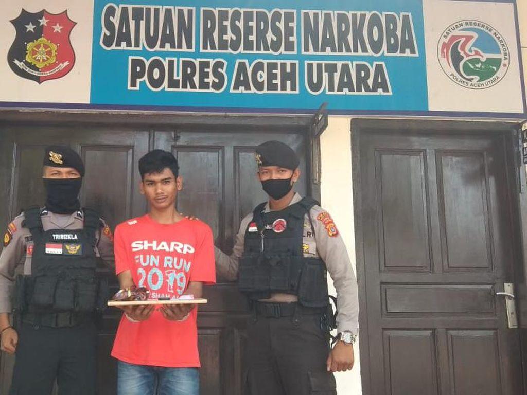 Kepergok Bawa Sabu untuk Tahanan Polres, Pria di Aceh Utara Ditangkap