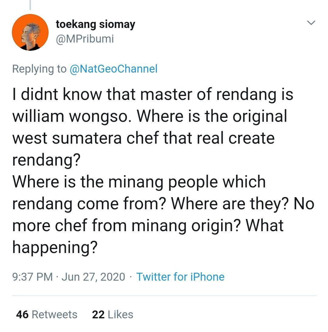 Pro kontra William Wongso sebagai mentor rendang
