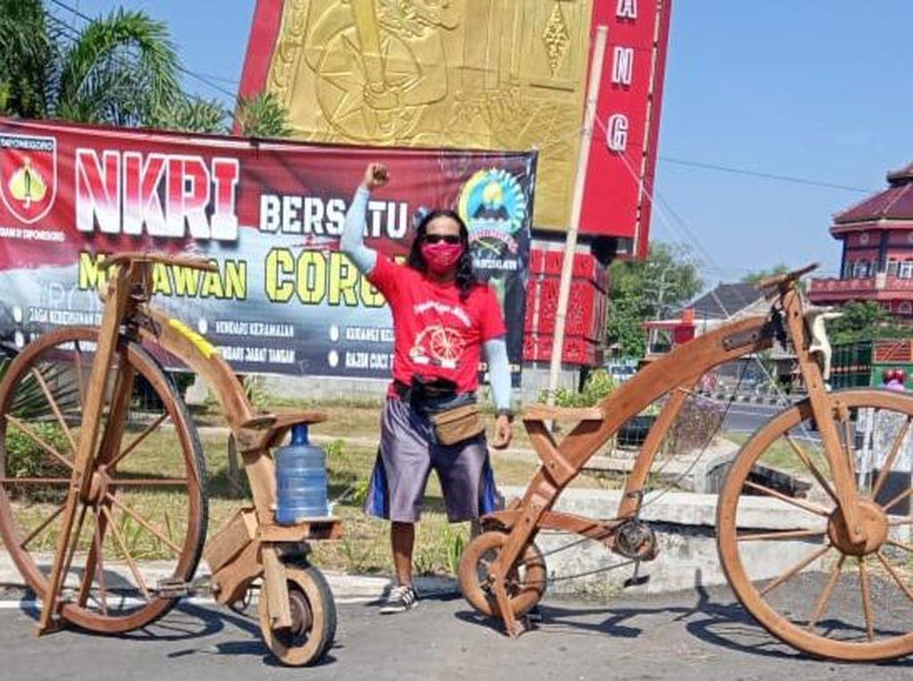 Pria Klaten Sulap Limbah Kayu Jadi Sepeda, Dari Mana Sih Idenya?