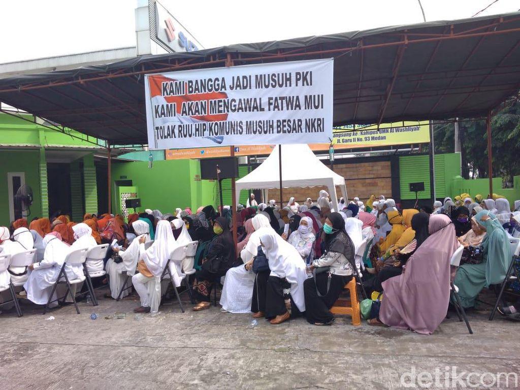 Umi-umi di Medan Deklarasi Tolak RUU HIP, Bangga Jadi Musuh PKI