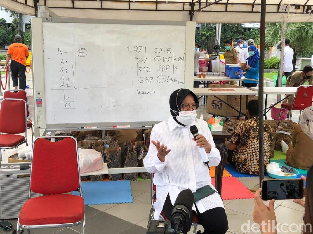 Risma Sebut 90 Persen Kematian Pasien COVID-19 di Surabaya Karena Komorbid