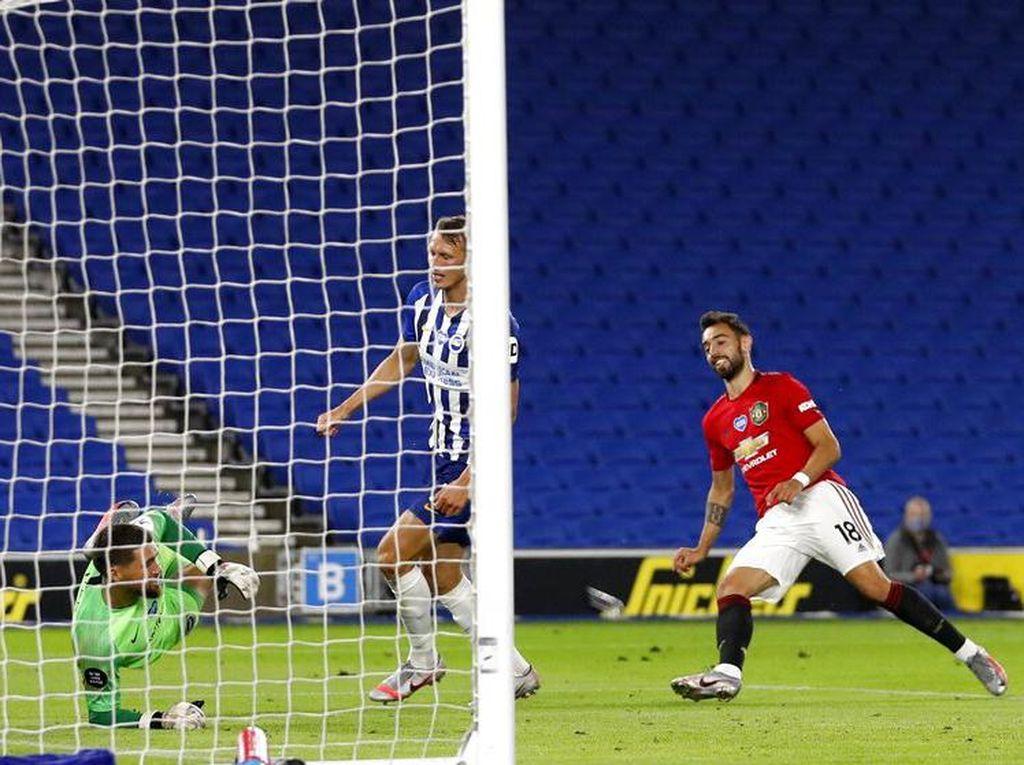 Brighton Vs MU: Bruno Fernandes 2 Gol, Setan Merah Menang 3-0