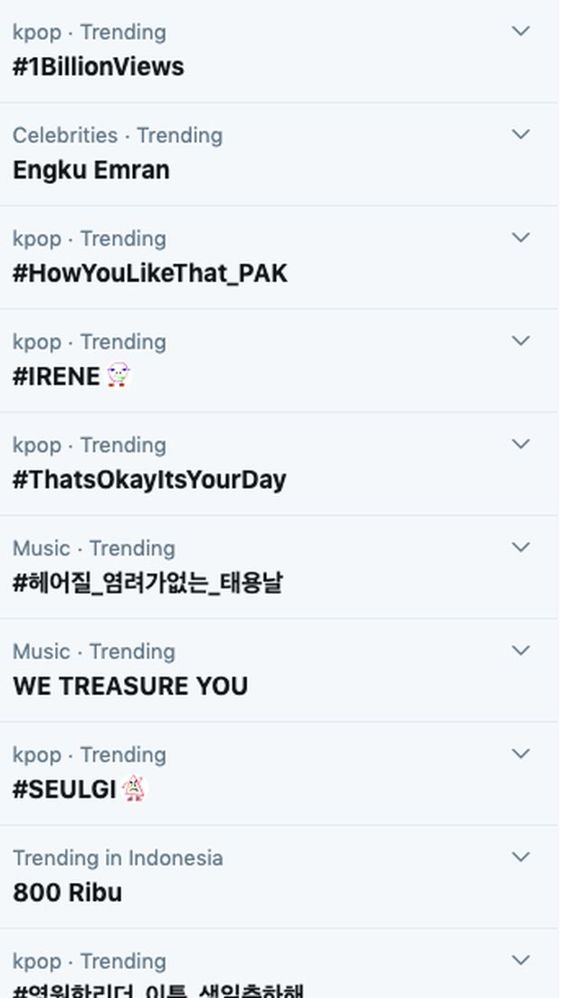 Tangkapan layar Engku Emran trending Twitter.