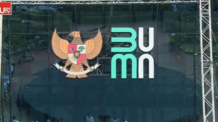 Logo baru Kementerian BUMN/Screenshot video