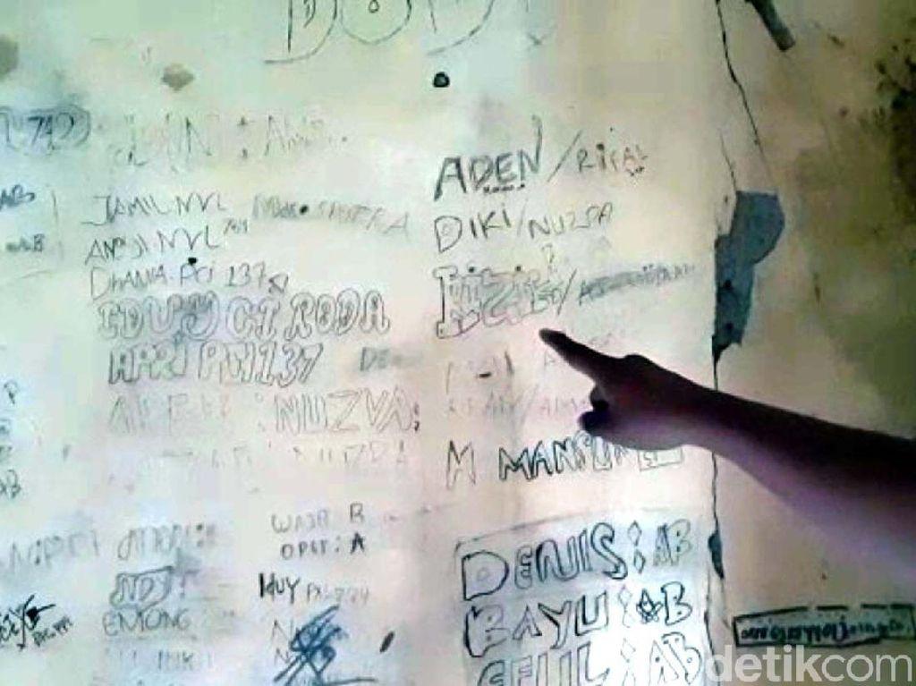 Misteri Coretan Dinding di Rumah Predator Seks Sukabumi