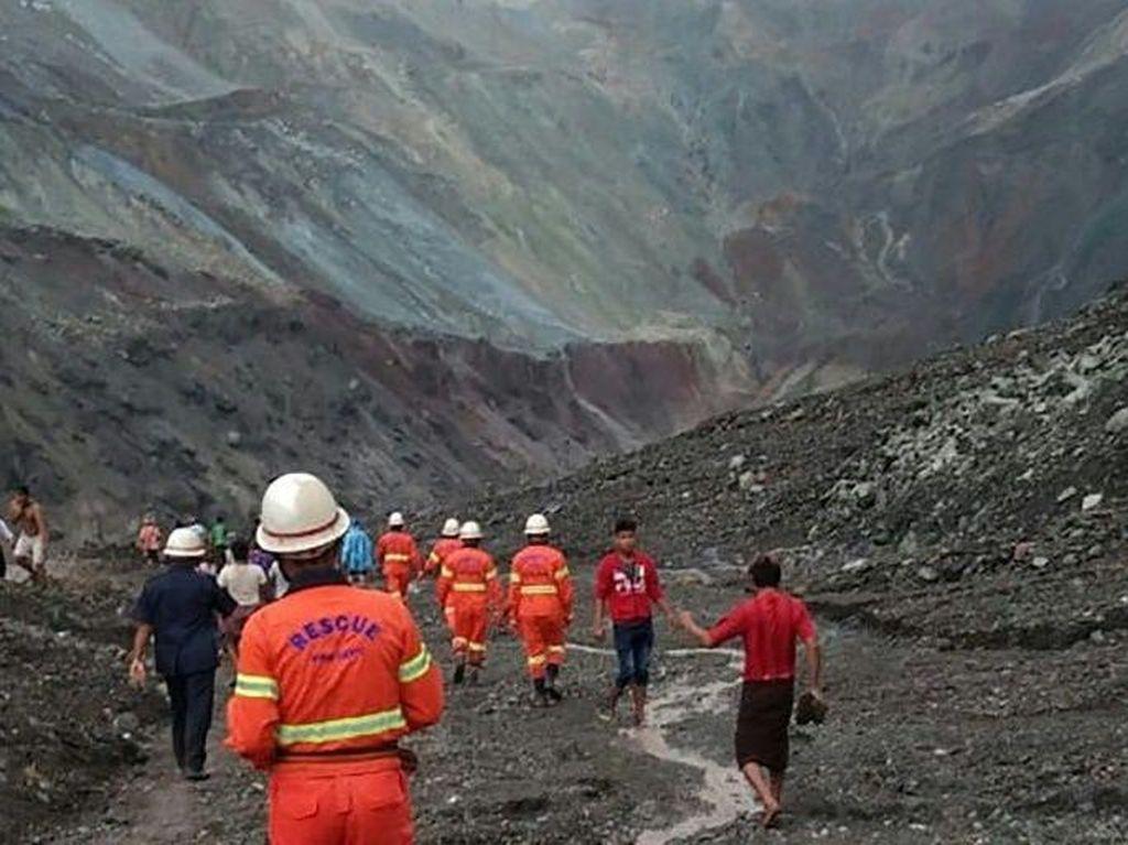 113 Orang Tewas Akibat Tanah Longsor di Tambang Batu Giok Myanmar