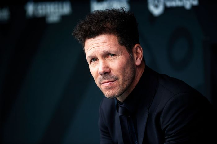 BARCELONA, SPAIN - MARCH 01: Head Coach Diego Pablo Simeone of Atletico de Madrid looks on during the Liga match between RCD Espanyol and Club Atletico de Madrid at RCDE Stadium on March 01, 2020 in Barcelona, Spain. (Photo by Alex Caparros/Getty Images)