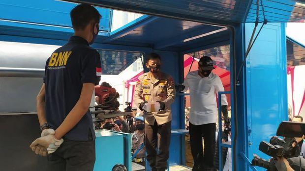 Pemusnahan Narkoba di Polda Metro Jaya