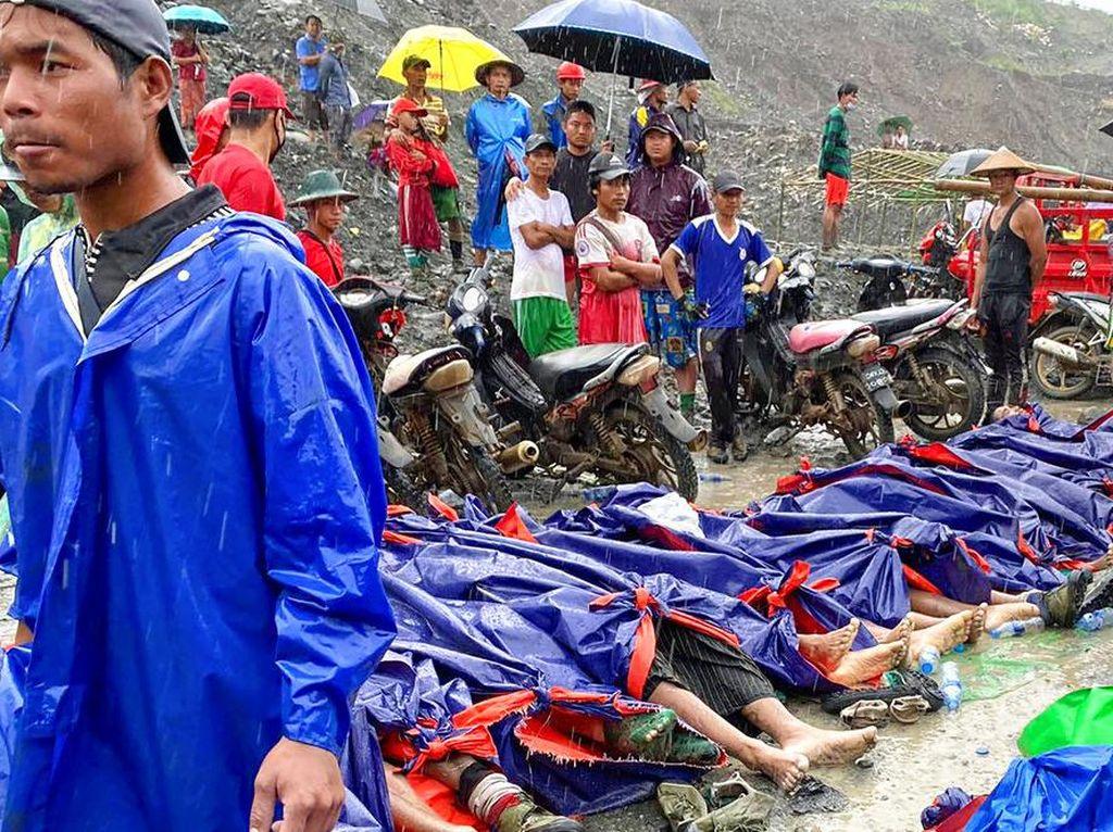 Ratusan Orang Tewas Akibat Longsor di Tambang Batu Giok Myanmar