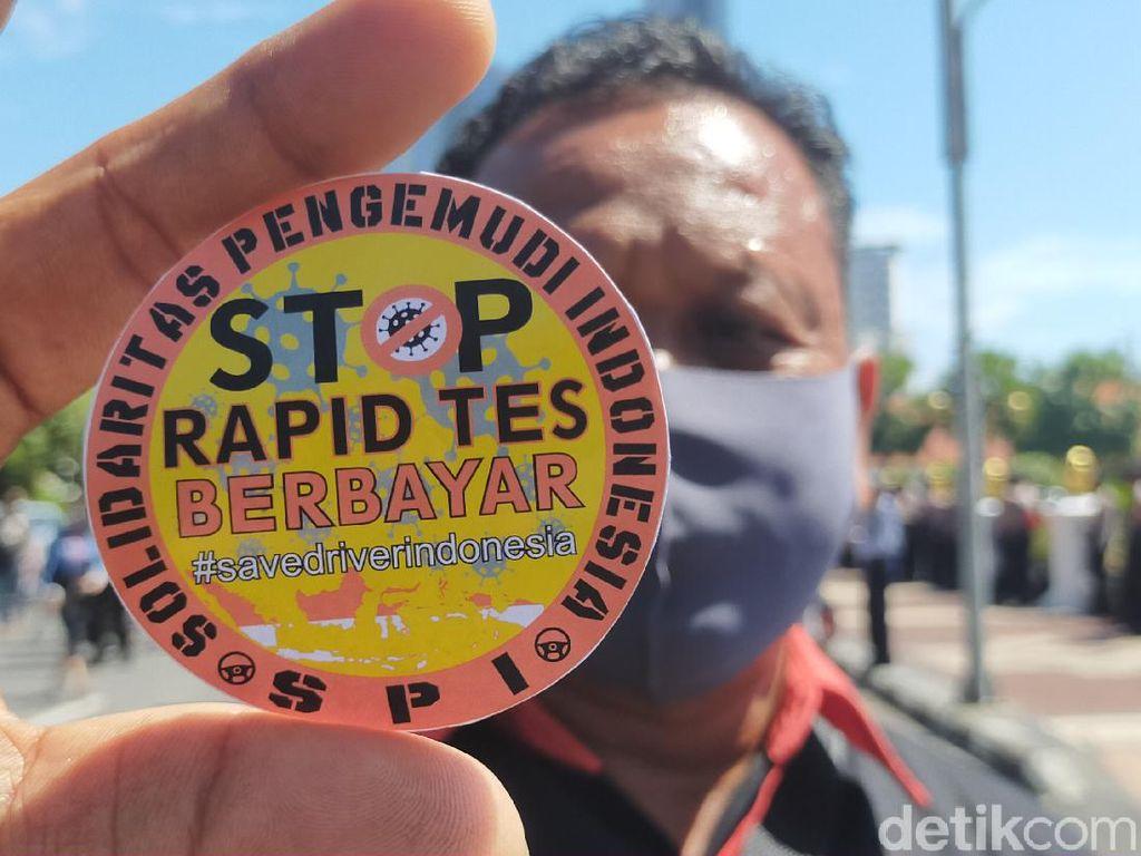 Sopir Penyeberangan Ketapang-Gilimanuk Demo Tolak Rapid Test Berbayar