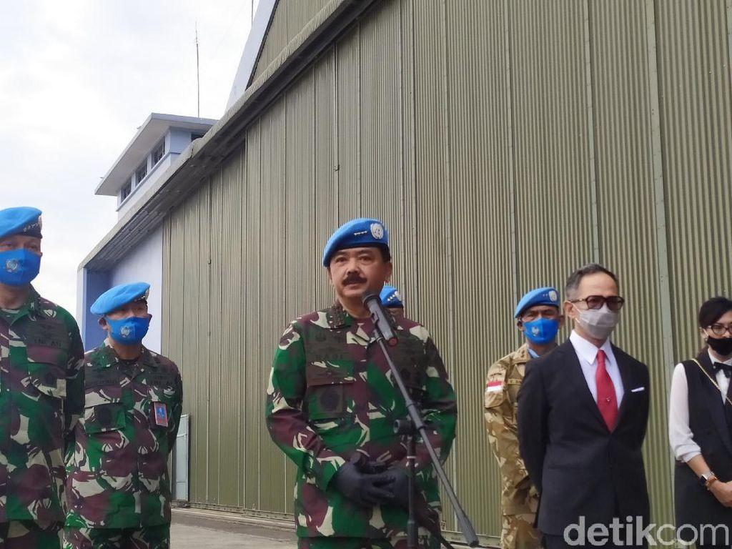 Video Panglima TNI Lepas Jenazah Pelda Rama yang Gugur di Kongo