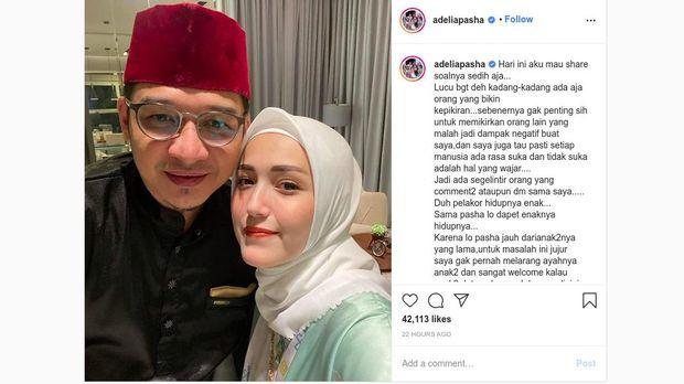 Unggahan Adelia Pasha