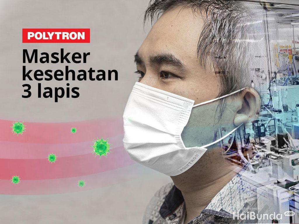 Polytron Bikin Masker Tiga Lapis, Apa Keunggulannya?
