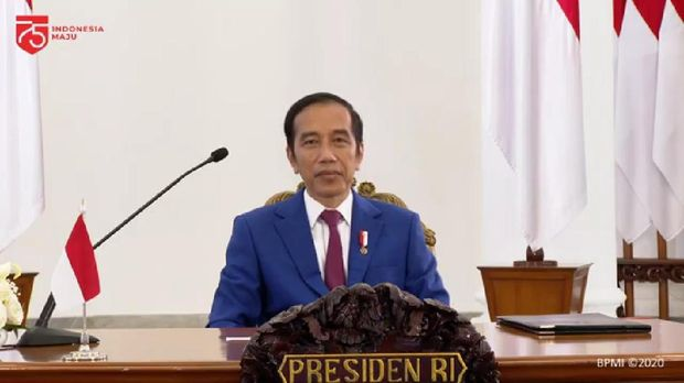 Presiden Joko Widodo (Jokowi) saat membuka Konferensi Forum Rektor Indonesia 2020 (Youtube Sekretaris Kabinet)