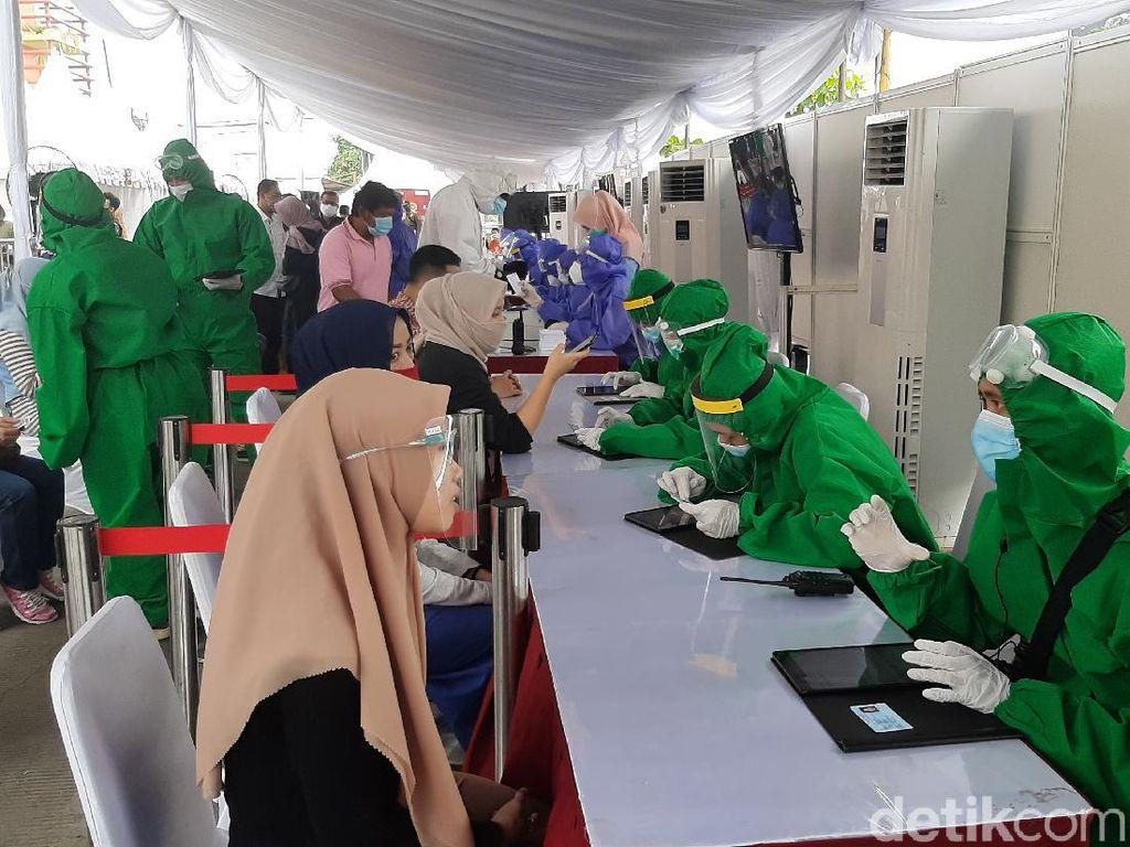 Rapid Test Massal di Pasar Ciawi Bogor, 6 Orang Reaktif