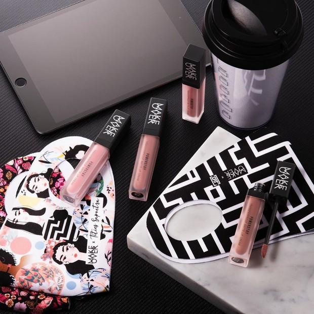 Make Over Powerstay Transferproof Matte Lip Cream memiliki delapan warna dan ketahanan di bibir mencapai 14 jam.