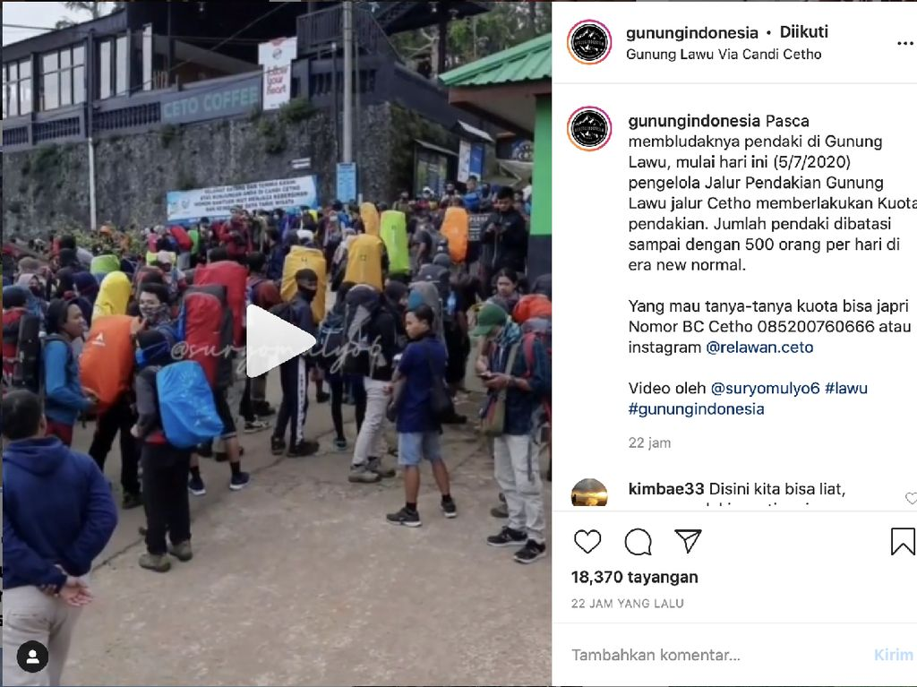 Gunung Lawu-Prau Ruame Poll di Akhir Pekan