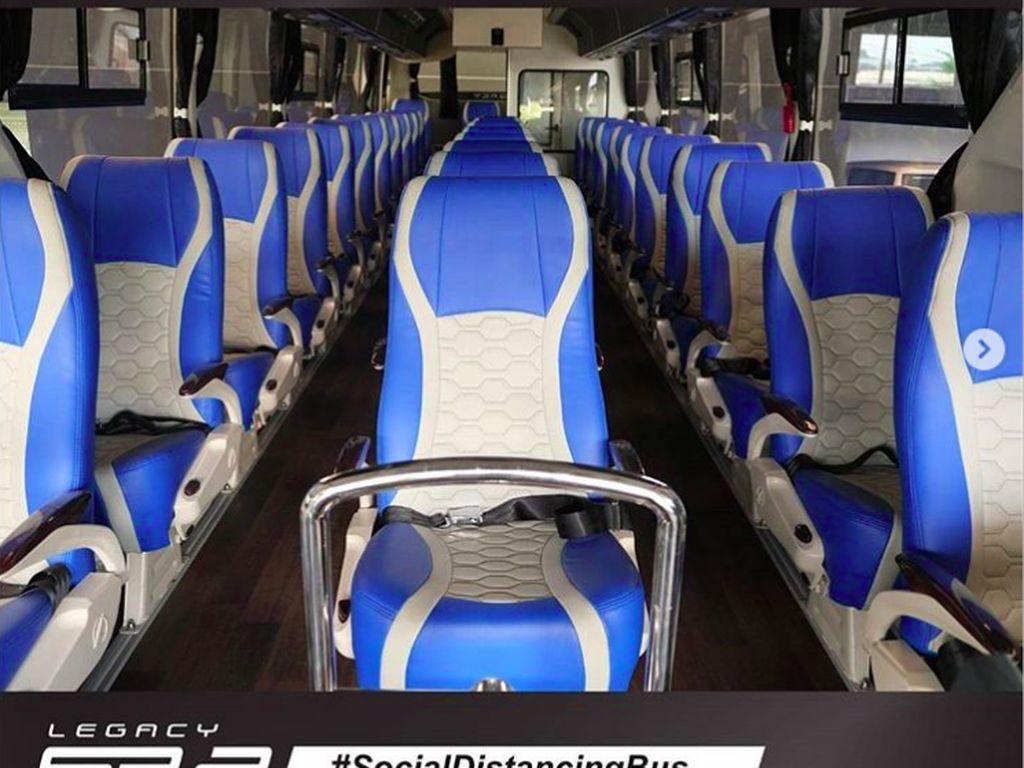 Bus Ala Physical Distancing Buatan Jawa Tengah