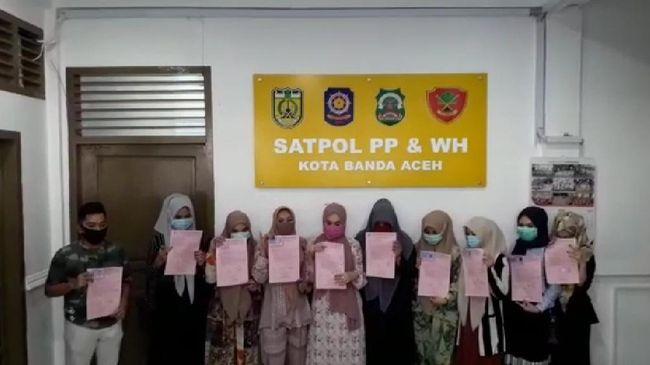 Diamankan, Pesepeda Wanita Tak Berjilbab di Banda Aceh Minta Maaf