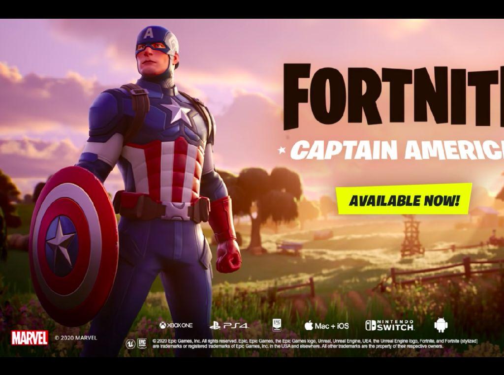 Fortnite Kedatangan Captain America